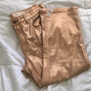 Gold Anthropologie pilcro jeans size 32/14